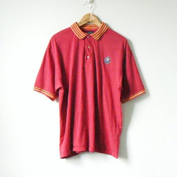 510f0121b1 Jantzen Shirts | Preppy Vintage 90s Red Yellow Polo Shirt | Poshmark